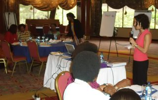 Facilitating a strategic planning workshop in Kenya for the UN